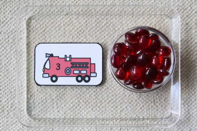 Fire Engine Cards and Counters Tray