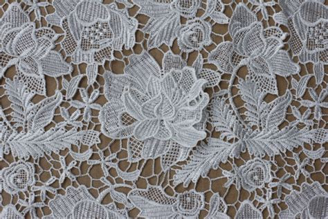 White Lace Fabrics 110cm Wide Polyester Wedding By