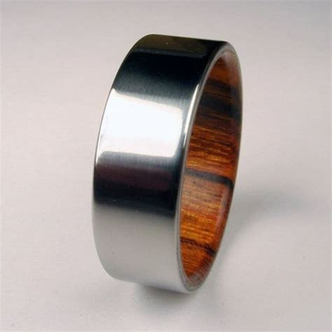 wood and titanium ring: nice for a man's wedding ring