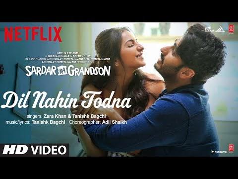 Dil Nahin Todna lyrics with english translation  | Sardar Ka Grandson |Arjun Kapoor,Rakul Preet Singh |Zara Khan, Tanishk Bagchi