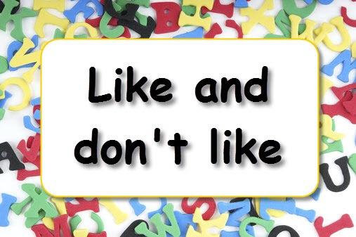 """I like, I don´t like"""". Fichas de refuerzo para inglés."""