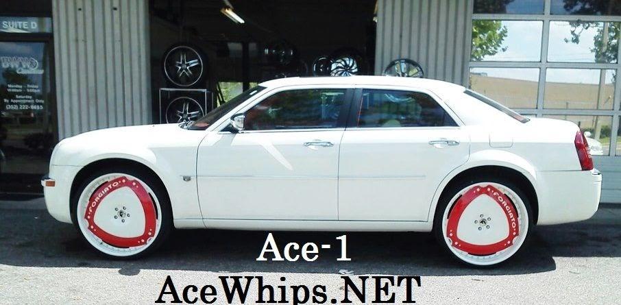 """2016 Monte Carlo Ss >> Ace-1: White Chrysler 300 on 26"""" Maschili Forgiatos"""