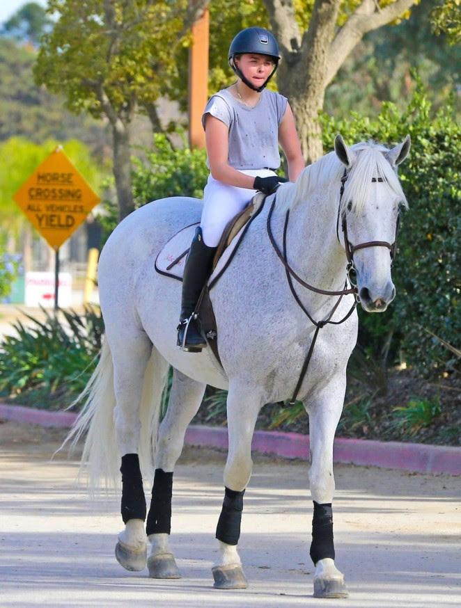 Chloe Moretz: Riding a Horse -08