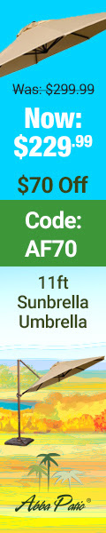 Sunbrella sale! $70 Off plus Free Shipping! Code AF70.