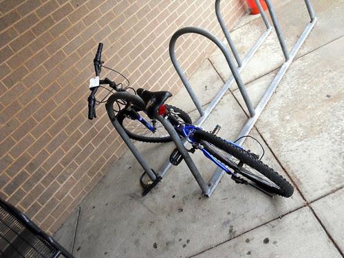 Bicycle parked at Aurora Hills Branch Library, Arlington VA