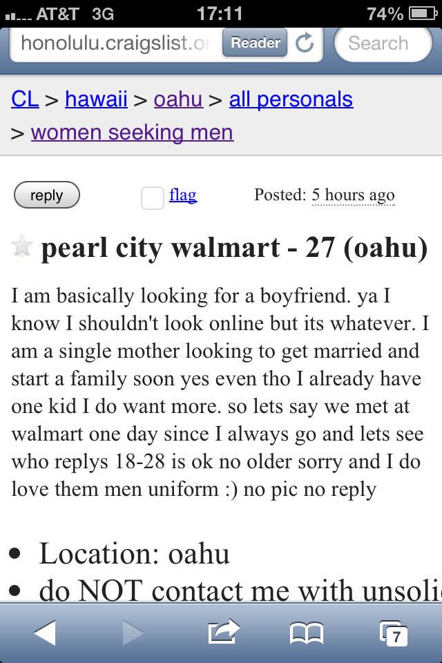 Craigslist oahu men seeking men