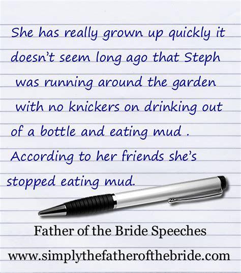 brides father wedding fotb   bride speech