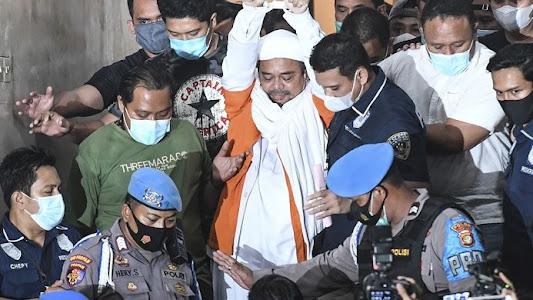 Selesai Diperiksa di Polda Metro, Rizieq Shihab Langsung Ditahan