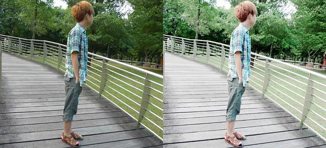 compare side by side original vs edited