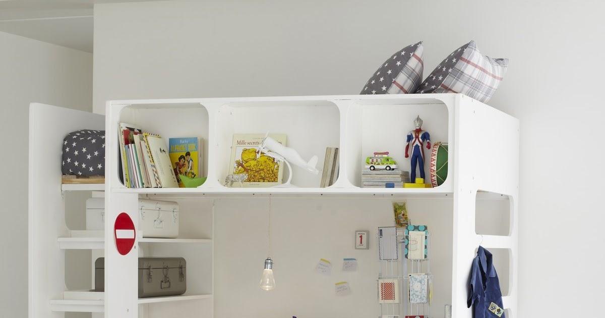Meuble cuisine dimension lit mezzanine avec bureau pas cher - Bureau enfant pas chere ...