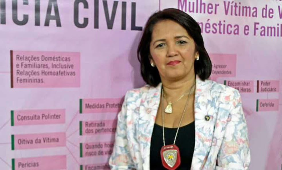 Delegada Sheila Freitas promete não dar trégua aos bandidos  (Foto: Kalina Veloso)