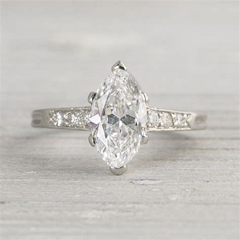 Vintage 1920s Tiffany & Co. Marquise Ring   Wedding