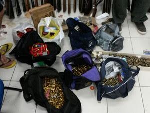 Mais de 20 mil munição foram apreendidas em Caruaru, no Agreste de Pernambuco (Foto: Divulgação/ Polícia Civil)