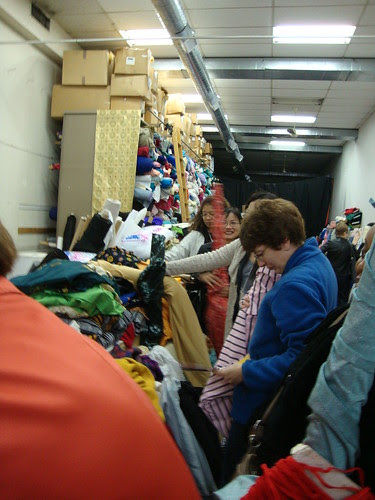 In line at Chicago at Chicago Fabric Button and Yarn Co