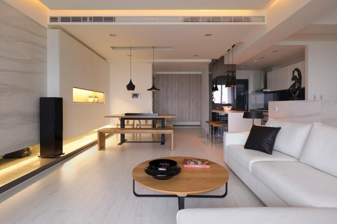 Monochrome living room design