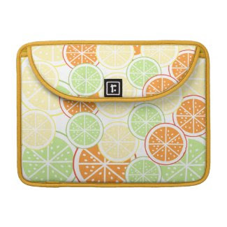 Citrus Pattern MacBook Sleeve rickshawflapsleeve