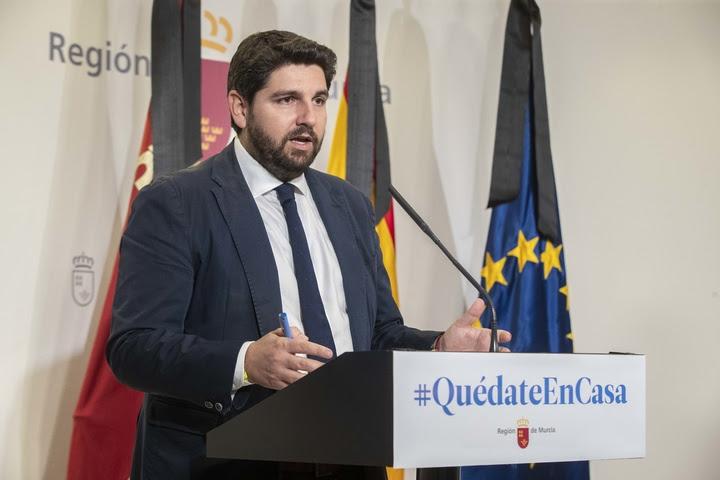 Rueda de prensa del presidente de la Región de Murcia