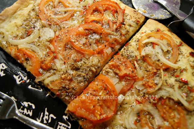 Pizza sans cheese