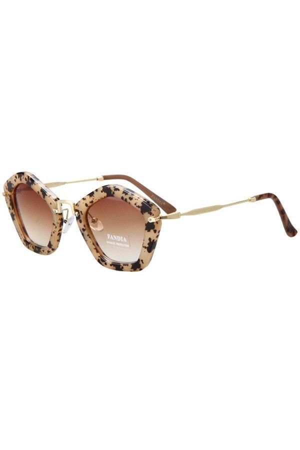 Hawksbill Pentagonal Frame Sunglasses