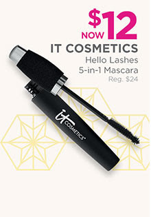 Hello Lashes 5-in-1 Mascara is now $12, regular $24.