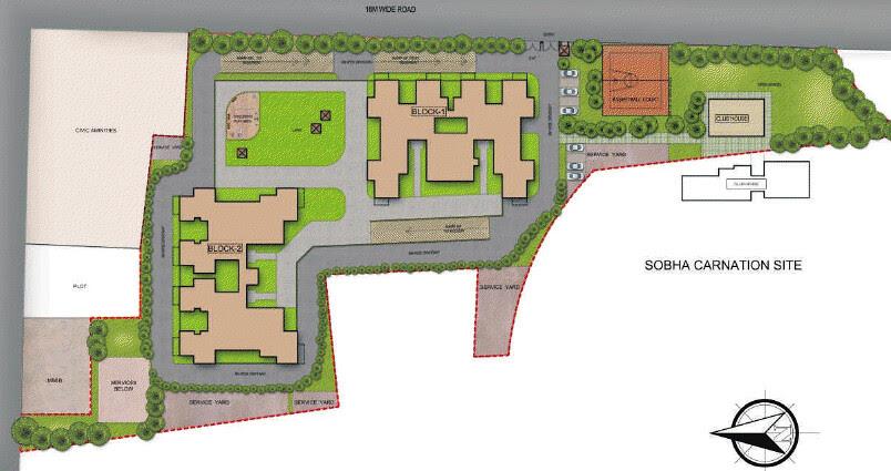Sobha Ivory, Next Phase of Sobha Carnation, at Kondhwa, Pune 411048: Layout Plan
