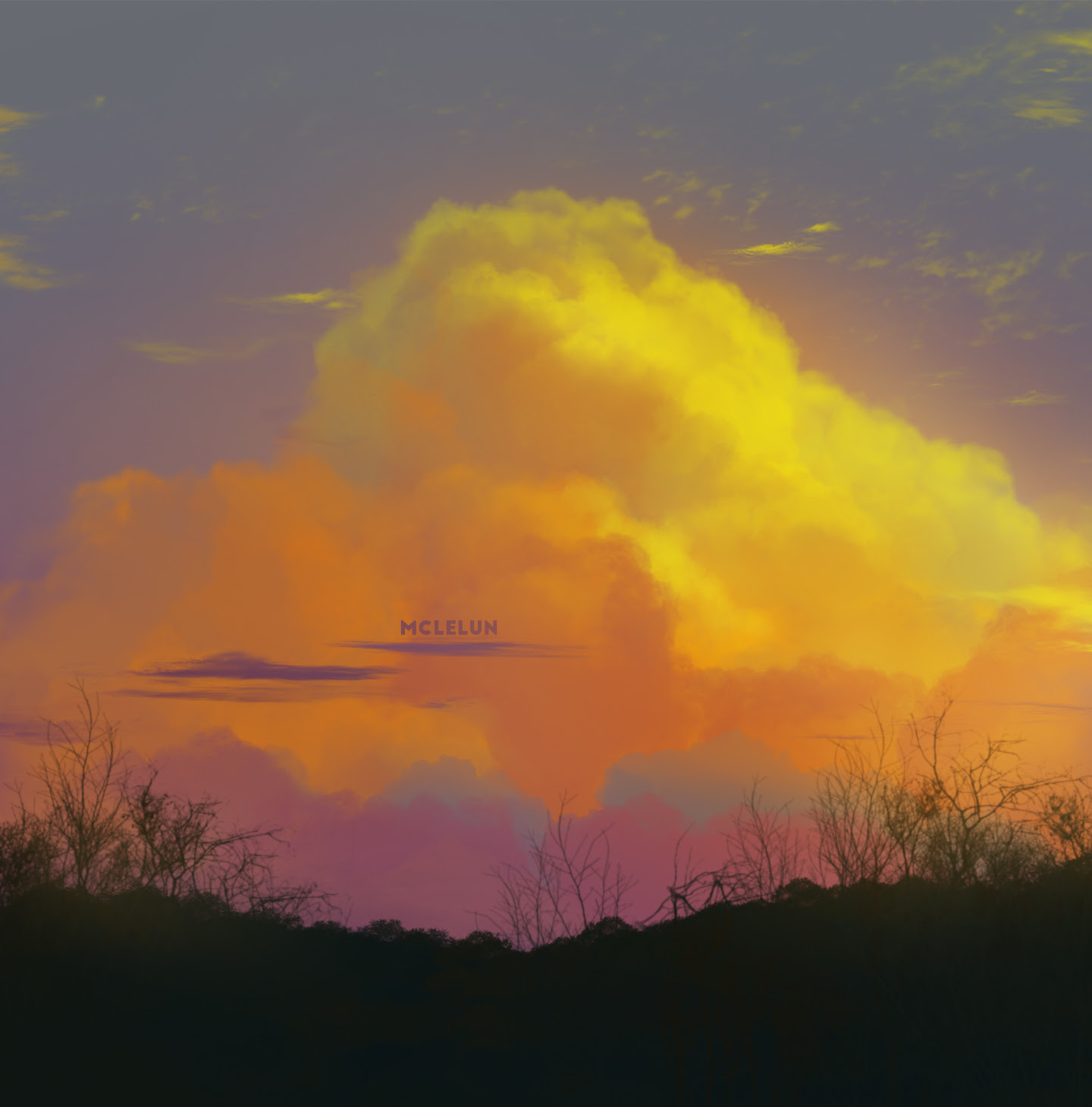 warm sunset cloud