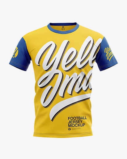 Download Download Men's Football Jersey Mockup - Front View Object ...
