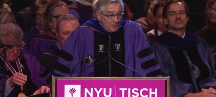 «Τη γα@@σατε»: Απίστευτη ομιλία του Ντε Νίρο σε απόφοιτους του Πανεπιστημίου [βίντεο]