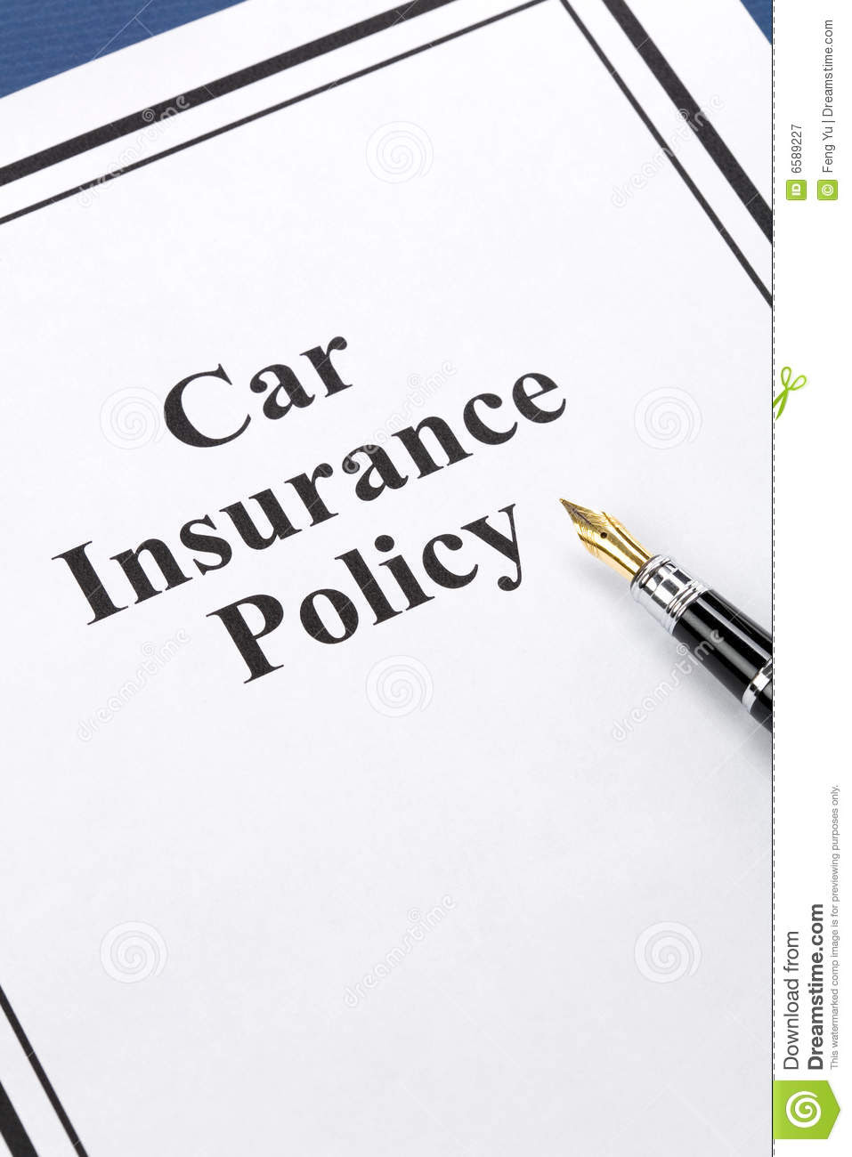 Car Insurance Policy Royalty Free Stock Photography ...