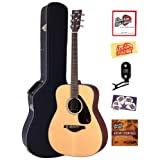 Yamaha FG700S Folk Acoustic Guitar Bundle with Hardshell Case, Tuner, Instructional DVD, Strings, Pick Card, and...