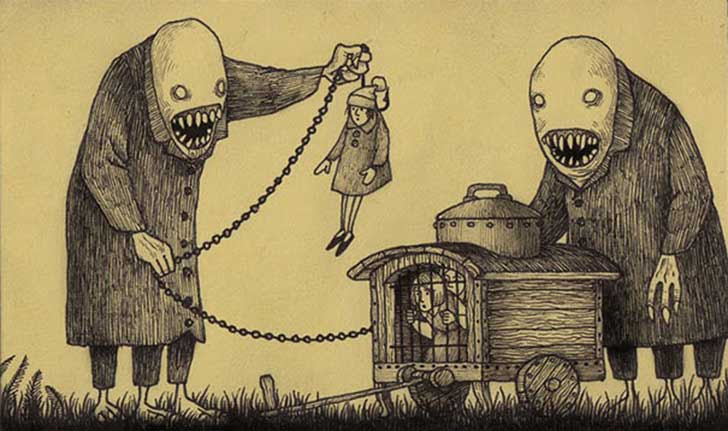 Artista Hace Dibujos De Monstruos Aterradores En Notas Adhesivas