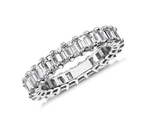 Emerald Cut Diamond Eternity Ring in Platinum (3.0 ct. tw