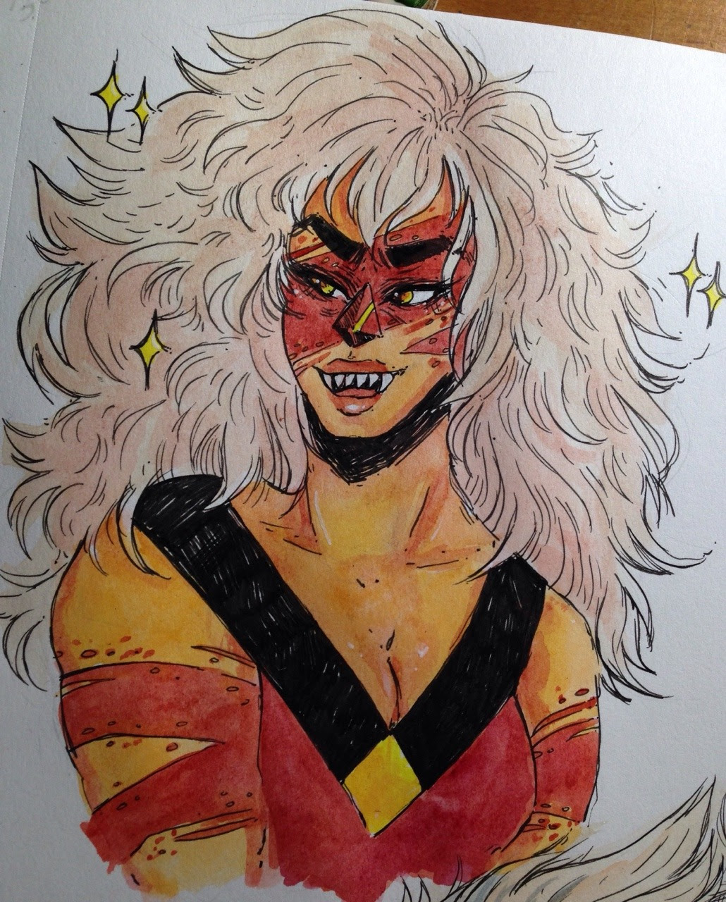 im feeling terrible!! but im going to keep drawing jasper cause shes all i got and ive got some bad art block to get through