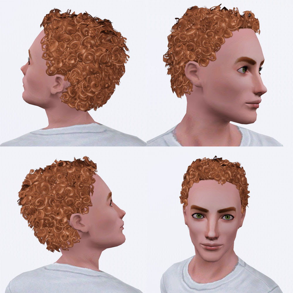 Curly Hair Sims 3 Exchange - Short Curly Hair