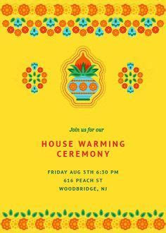 Find good wordings for Indian Housewarming invitation