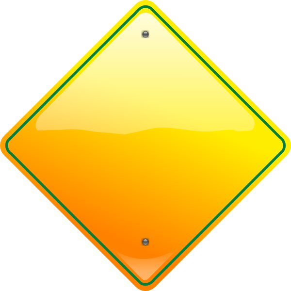 Yellow Yield Sign - ClipArt Best