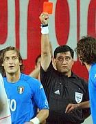 Il rosso a Totti in Corea del Sud-Italia
