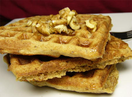Bianca's Cinnamon Pecan Waffles