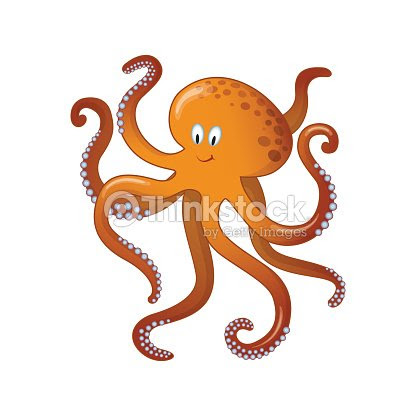 Ilustración De Animales De Dibujos Animados De Mar Pulpo Para Niños