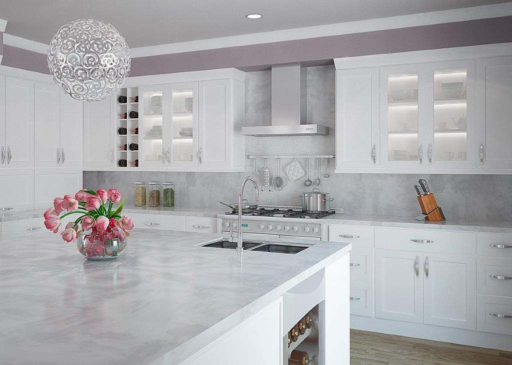 Are white kitchen cabinets much harder to keep clean?