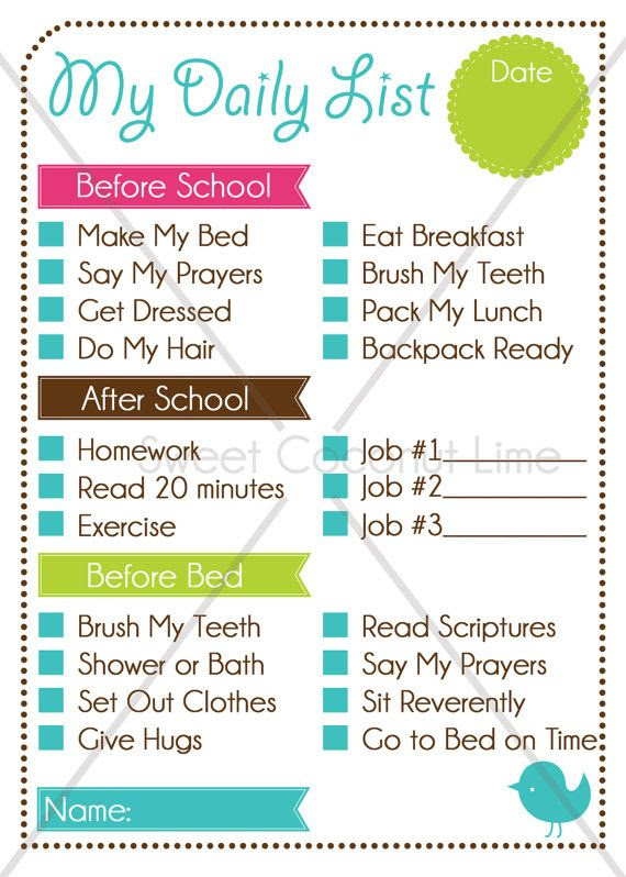 1000+ ideas about Daily Chore Charts on Pinterest | Pre k age ...