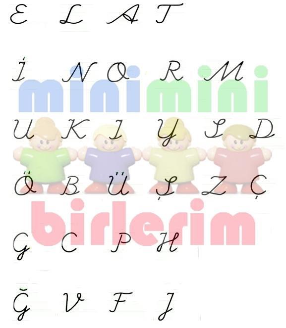 Eğik El Yazısı Küçük Harfler