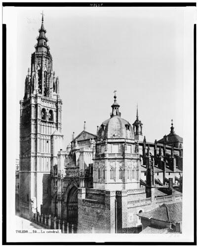 Catedral de Toledo en el siglo XIX. Fotografía de Jean Laurent. The Library of Congress of the United States of America