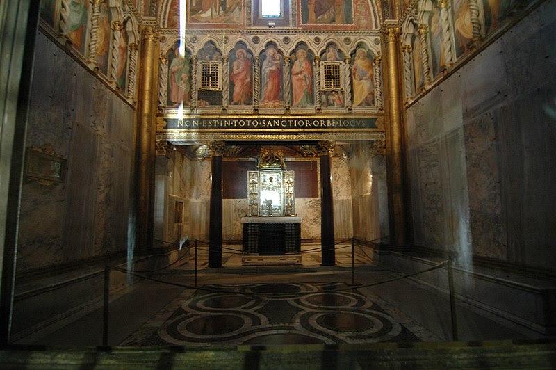 File:Cappella di San Lorenzo in Palatio (Sancta Sanctorum).jpg