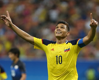 Teo Gutierrez Colombia x Japao (Foto: AP)