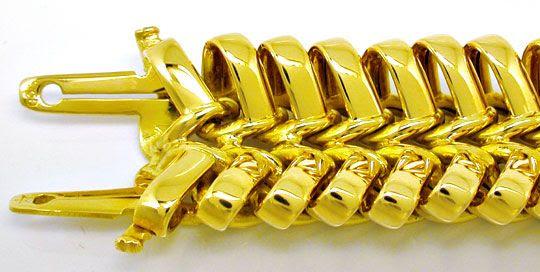 Foto 1, Super Designer-Gelbgold-Schlaufen-Armband, Luxus! Neu!!, K2964