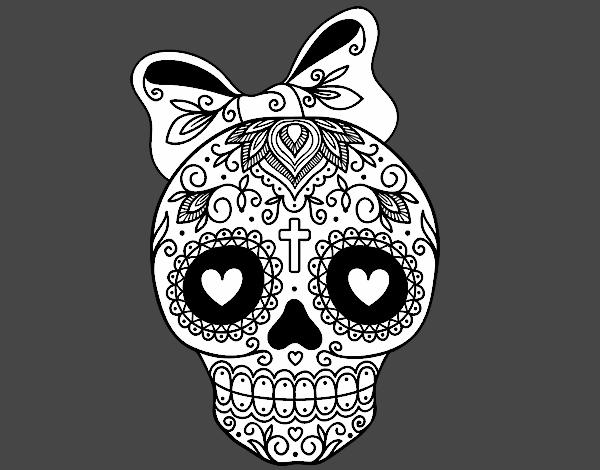 Meilleur En 2019 Coloriage Tête De Mort Mexicaine