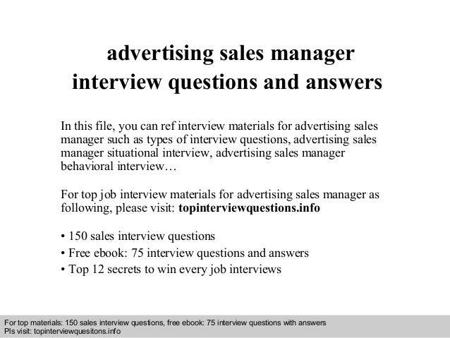 Advertising Sales Manager ~ ANAXMEN