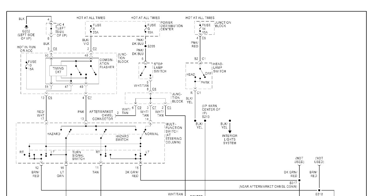 1999 Dodge Dakota Tail Light Wiring Diagram