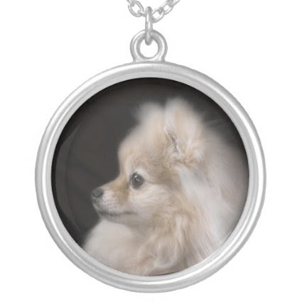 Adorably Cute Posing Pomeranian Puppy Custom Jewelry